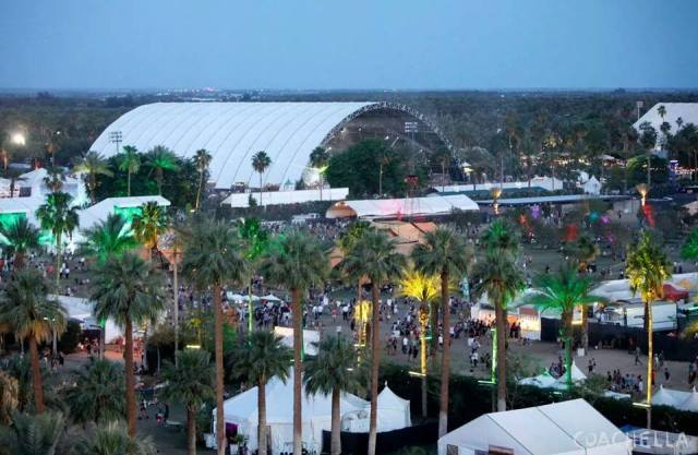 Bird's eye view of the Sahara Tent