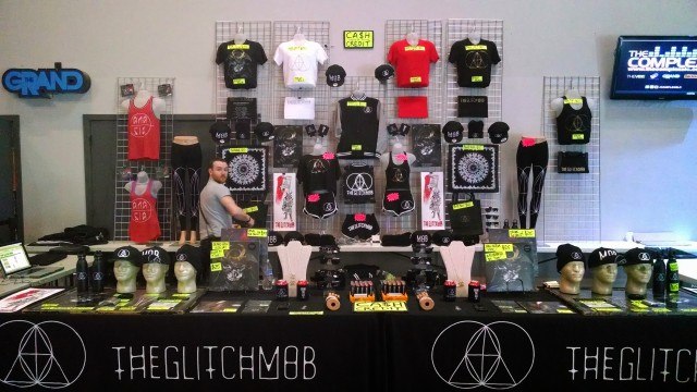 Merch-master Judd rocking the booth in SLC