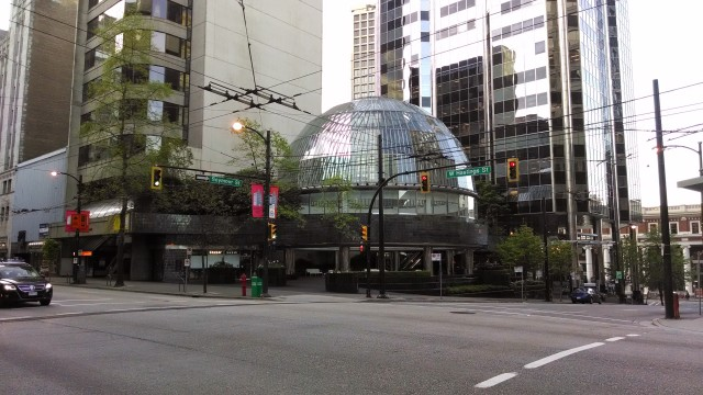 Dome in Vancouver, I can only imagine this is some sort of escape pod in case of a US invasion?