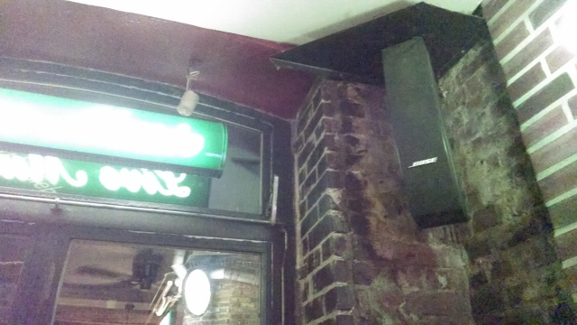 Featured at a local pub, the new Bose line array