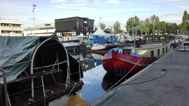 A shipyard - crazy location for a festival, but totally works!