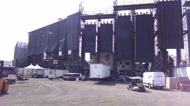 Backside of the Mainstage
