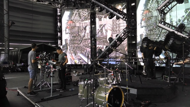 Robert Delong soundchecking - this guy puts on an incredible performance, super multi-instrumentalist!